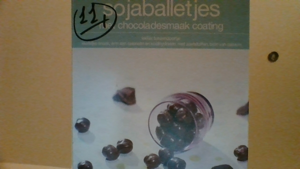 sojaballetjes met chocoladesmaak